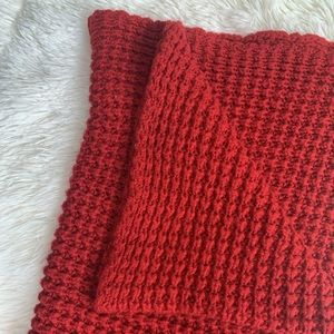❤️Knitted red scarf